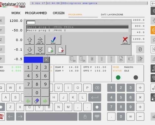 Futura Woodmac innovation, CNC Milling Machines: macro programming, Edita application