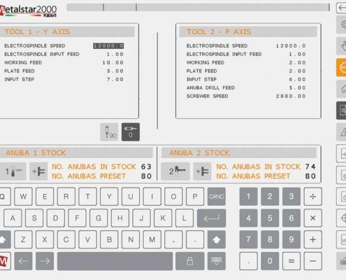 Innovazione Futura Woodmac, Fresatrici Anubatrici CNC: programmazione macro, pagina parametri lavorazione