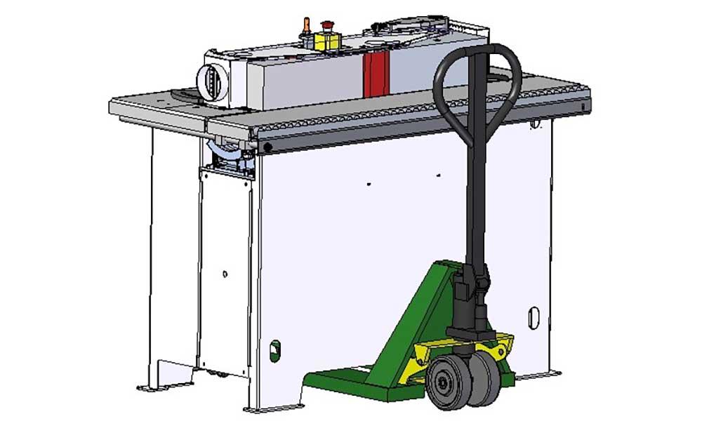 Movimentazione macchina, levigatrice Level 150: Futura Woodmac