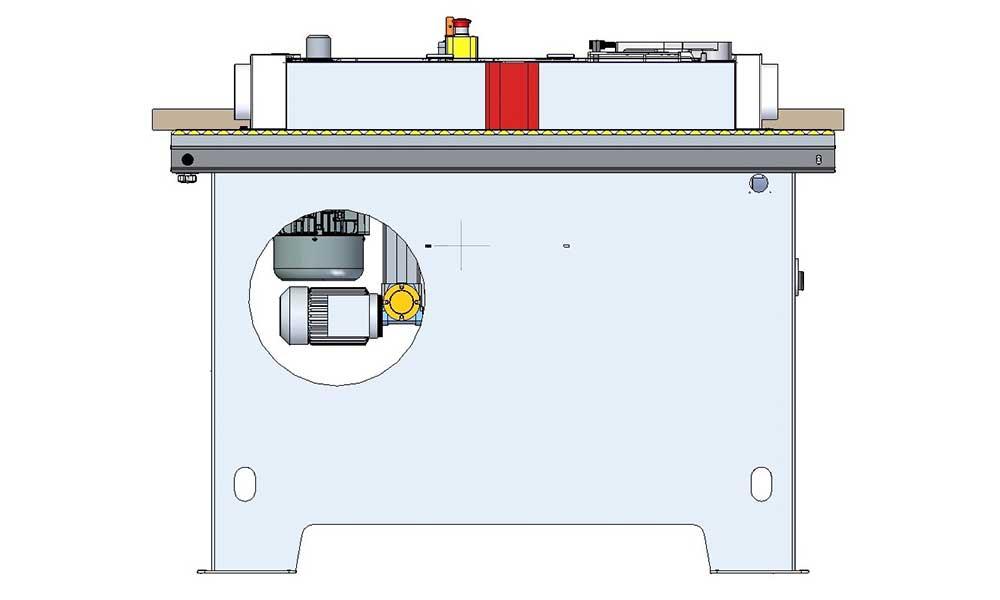 Separated motors, wood sander Level 150: Futura Woodmac