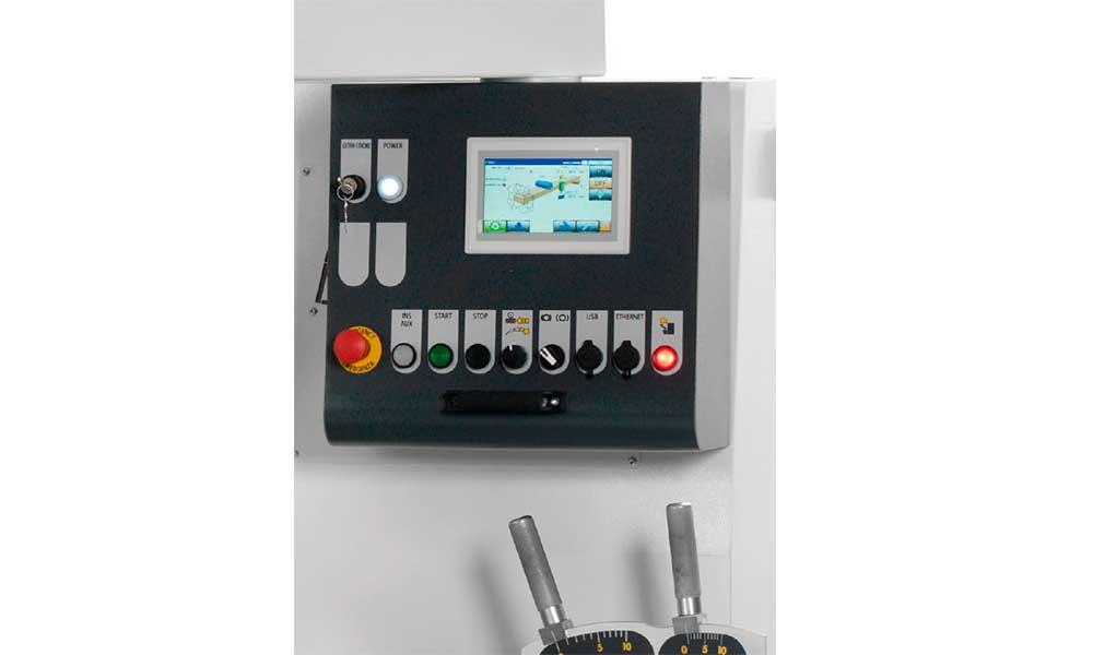 PLC touch, Piallatrici Profilatrici Scorniciatrici Futura Woodmac