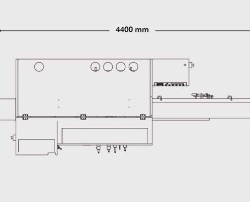 P.One 4+Universale (visione dall'alto), Futura Woodmac