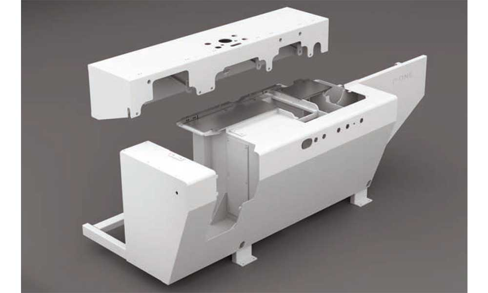 Monobloc machine bed, Wood Moulder Machines Futura Woodmac