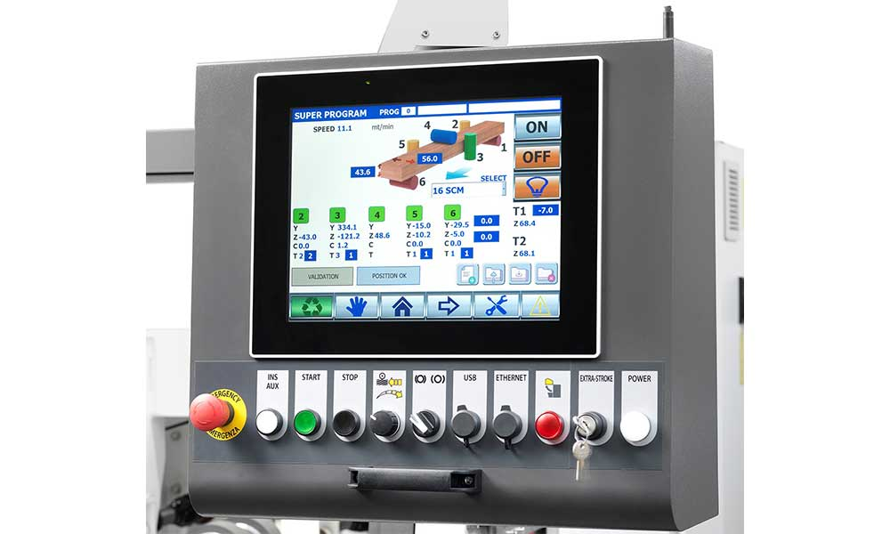 Touch screen monitor, 4 Sided Planer Moulder Futura Woodmac