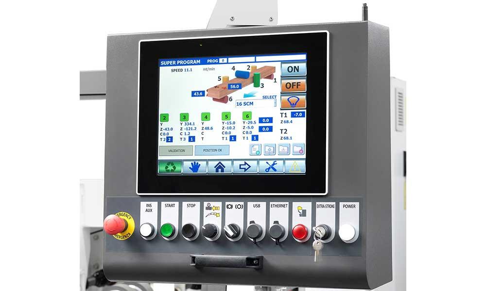 Monitor touch screen, Profilatrici Scorniciatrici Futura Woodmac