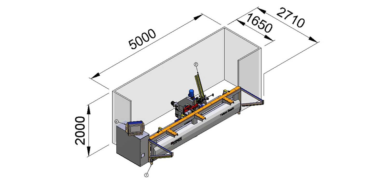 CNC Mill Hinge Boring Machine Tekno Basic, Woodworking