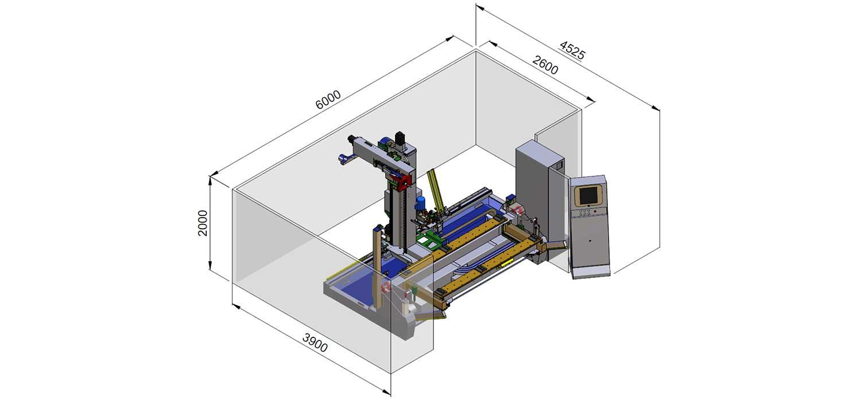 CNC Mill Hinge Boring Machine Tekno Control, Woodworking