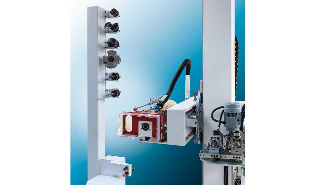 Head and Storage, CNC Mill Hinge Boring Machines: Futura Woodmac