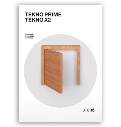 CNC milling machines, Hinge boring machines: catalog Tekno Prime and Tekno X2, Futura Woodmac